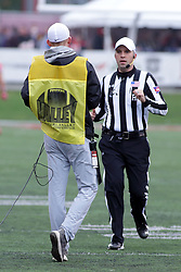 04 November 2017:   Andrew Speciale works on an instant replay during the Western Illinois Leathernecks at Illinois State Redbirds Football game at Hancock Stadium in Normal IL (Photo by Alan Look)