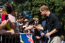 The Duke of Sussex during a walkabout in Rotorua on day four of the royal couple's tour of New Zealand.