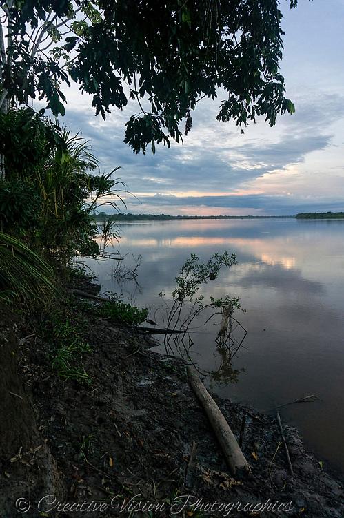 Shipibo village along the Ucayali River