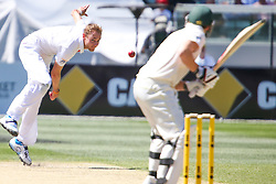 © Licensed to London News Pictures. 27/12/2013. Stuart Broad bowling during Day 2 of the Ashes Boxing Day Test Match between Australia Vs England at the MCG on 27 December, 2013 in Melbourne, Australia. Photo credit : Asanka Brendon Ratnayake/LNP