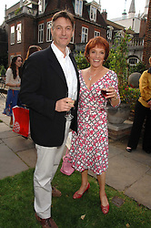ESTHER RANTZEN and MICHAEL BOWEN at the Lady Taverners Westminster Abbey Garden Party, The College Garden, Westminster Abbey, London SW1 on 10th July 2007.<br />