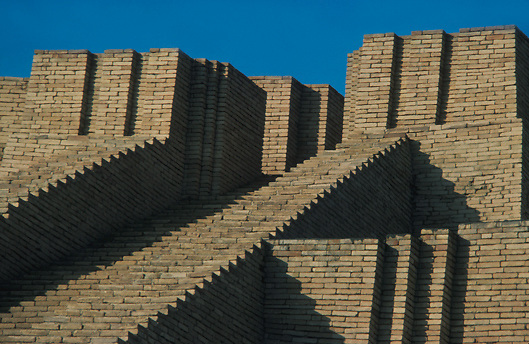 ancient Sumerian site of Ur of the Chaldees in Iraq