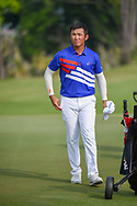 Yung-Hua LIU (TPE) departs the green on 18 following Rd 1 of the Asia-Pacific Amateur Championship, Sentosa Golf Club, Singapore. 10/4/2018.<br /> Picture: Golffile | Ken Murray<br /> <br /> <br /> All photo usage must carry mandatory copyright credit (© Golffile | Ken Murray)