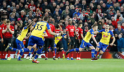 Southampton's James Ward-Prowse (second right) celebrates scoring his side's second goal of the game during the Premier League match at Old Trafford, Manchester.