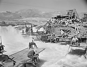 "Ackroyd 03991-2. ""Indians fishing at Celilo Falls. September 13, 1952"""