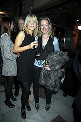 Left to right, GABY ROSLYN and LORIEN HAYNES at a party to celebrate the launch of Atelier-Mayer.com held at 83 Princedale Road, London W11 on 15th January 2009.