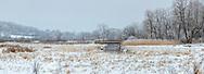 Nine Springs E-way Winter Wonderland, scene off Capital City Bike Trail, Madison, Wisconsin, panorama, January 7, 2021.