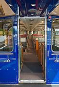 Inside the Alaska Railroad car