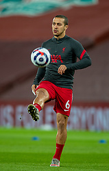 LIVERPOOL, ENGLAND - Thursday, March 4, 2021: Liverpool's Thiago Alcantara during the pre-match warm-up before the FA Premier League match between Liverpool FC and Chelsea FC at Anfield. Chelsea won 1-0 condemning Liverpool to their fifth consecutive home defeat for the first time in the club's history. (Pic by David Rawcliffe/Propaganda)