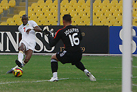 Photo: Steve Bond/Richard Lane Photography.<br />Senegal v South Africa. Africa Cup of Nations. 31/01/2008. Henri Camera (L) curls his shot around keeper Moneeb Josephs to equalise