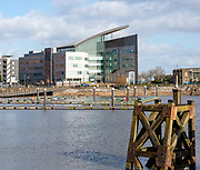 Modern Atradius building in Cardiff Bay redevelopment area, Harbour Drive, Capital Waterside, Cardiff, South Wales, UK