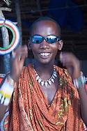 A Massai tribesman selling jewelry on Kendwa Beach, Zanzibar, Tanzania