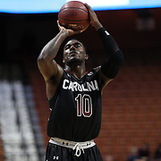 Duane Notice, South Carolina, takes a free throw during the St. John's vs South Carolina Men's College Basketball game in the Hall of Fame Shootout Tournament at Mohegan Sun Arena, Uncasville, Connecticut, USA. 22nd December 2015. Photo Tim Clayton