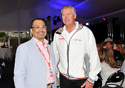 WMRT Executive Chairman, Patrick Lim with Peter Gilmour at the Womens Prize Giving ceremony. Photo: Chris Davies/WMRT