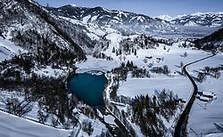 THEMENBILD - der teilweise zugefrorene Klammsee in der Winterlandschaft, aufgenommen am 16. Januar 2019 in Kaprun, Oesterreich // the partially frozen Klammsee in the winter landscape in Kaprun, Austria on 2019/01/15. EXPA Pictures © 2019, PhotoCredit: EXPA/ JFK