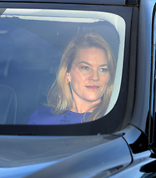 Autumn Phillips arriving for the Queen's Christmas lunch at Buckingham Palace, London.