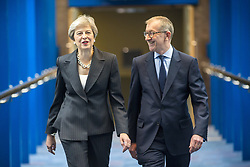 October 3, 2018 - Birmingham, West Midlands, UK - Birmingham, UK. Prime Minister Theresa May & her husband Philip today ahead of the PM's speech to her party on the final day of the Conservative Party Conference being held at the International Convention Centre in Birmingham. (Credit Image: © Andrew Mccaren/London News Pictures via ZUMA Wire)