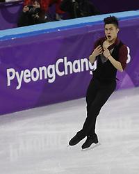 February 17, 2018 - Pyeongchang, KOREA - Han Yan of China competing in the men's figure skating free skate program during the Pyeongchang 2018 Olympic Winter Games at Gangneung Ice Arena. (Credit Image: © David McIntyre via ZUMA Wire)