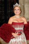 Gala dinner on the occasion of the civil wedding of Grand Duke Guillaume and Princess Stephanie at the Grand-Ducal palace in Luxembourg <br /> <br /> On the photo: Princess Maxima