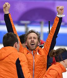 12-02-2018 ALGEMEEN: MEDAL PLAZA OLYMPISCHE SPELEN: OLYMPIC GAMES: PEYONGCHANG 2018<br /> Coach Rutger Tijssen <br /> Foto: Sander Chamid