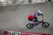 #921 (HARMSEN Joris) NED at Round 2 of the 2018 UCI BMX Superscross World Cup in Saint-Quentin-En-Yvelines, France.