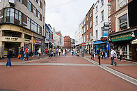 The St Stephens Green end of Grafton Street in Dublin Ireland, one of the city's main shopping areas