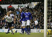 RETO ZIEGLER CELEBRATE HIS GOAL-BARCLAYS PREMIERSHIP SATURDAY 01 Jan 2005-Tottenham v Everton-COLORSPORT/KIERAN GALVIN