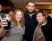 Connacht supporters Anna Lonergan and Colleen Mulligan from New York with Connacht Captain John Muldoon at the Guinness Area22 event in the Carlton Hotel Galway