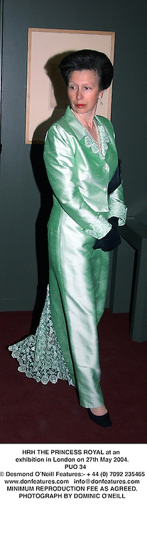 HRH THE PRINCESS ROYAL at an exhibition in London on 27th May 2004.<br /> PUO 34