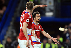 8 May 2017 - Premier League - Chelsea v Middlesbrough - Fabio of Middlesbrough cuts a frustrated figure after Boro' concede a third goal - Photo: Marc Atkins / Offside.
