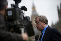 © licensed to London News Pictures. 19/07/2011. London, UK.  Former Deputy Prime Minister John Prescott talking to TV on College Green outside the Houses of Parliament in London today (19/07/2011) before Rebekah Brooks and Rupert Murdoch give evidence to the Culture, Media and Sport Committee in relation to the News Of The World phone hacking scandal. Photo credit should read Ben Cawthra/LNP
