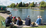 Maidenhead. Berkshire. United Kingdom. General view, spectators watch the racing at the 2017 Maidenhead Junior Regatta  River Thames. <br /> <br /> [©Peter SPURRIER/Intersport Images] Sunday. 14.05.2017