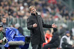 24.02.2015, Juventus Stadium, Turin, ITA, UEFA CL, Juventus Turin vs Borussia Dortmund, Achtelfinale, Hinspiel, im Bild Enttaeuschung bei Chef-Trainer Juergen Klopp (Borussia Dortmund) // during the UEFA Champions League Round of 16, 1st Leg match between between Juventus Turin and Borussia Dortmund on at the Juventus Stadium in Turin, Italy on 2015/02/24. EXPA Pictures © 2015, PhotoCredit: EXPA/ Eibner-Pressefoto/ Kolbert<br /> <br /> *****ATTENTION - OUT of GER*****