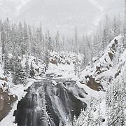 Gibbon Falls on the Gibbon River, Yellowstone National Park, Wyoming.