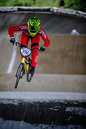 #296 (HALVORSEN Niklas) NOR at Round 5 of the 2019 UCI BMX Supercross World Cup in Saint-Quentin-En-Yvelines, France
