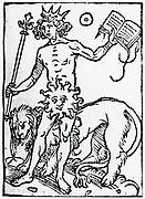 Planetary figure of the Sun. From 'Sphaera mundi', Strasburg, 1539.