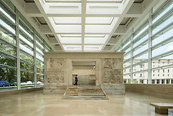 Museum of the Ara Pacis (Museo dell'Ara Pacis) housing Ara Pacis monument  in Rome, Italy