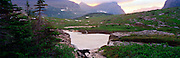 Reynold's Creek Sunrise, Glacier National Park, Montana