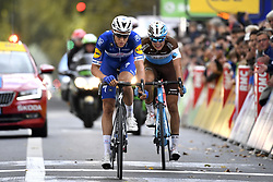 October 7, 2018 - Tours, France - TOURS, FRANCE - OCTOBER 7 : TERPSTRA Niki (NED)  of Quick - Step Floors, COSNEFROY Benoit (FRA)  of AG2R La Mondiale during the 112th edition of the Paris - Tours Elite cycling race with start in Chartres and finish in Tours on October 07, 2018 in Tours, France, 7/10/2018 (Credit Image: © Panoramic via ZUMA Press)