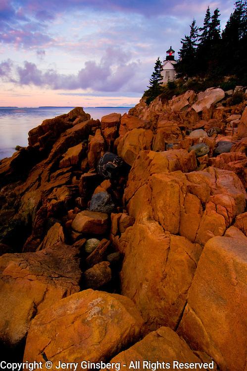 Bass Harbor Light on the rockbound Maine Coast in Acadia National Park.
