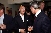 Gianluca Vialli. Dinner at San Lorenzo, Beauchamp Place after Tod's hosts Book signing with Dante Ferretti celebrating the launch of 'Ferretti,- The art of production design' by Dante Ferretti. 19 April 2005.  ONE TIME USE ONLY - DO NOT ARCHIVE  © Copyright Photograph by Dafydd Jones 66 Stockwell Park Rd. London SW9 0DA Tel 020 7733 0108 www.dafjones.com
