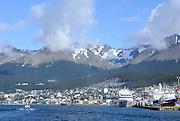 Cruise ships moored on the docks of Ushuaia. Ushuaia, Argentina. 13Feb16