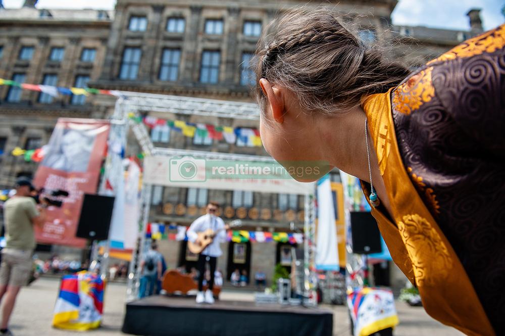 July 6, 2018 - Amsterdam, Netherlands - People in Amsterdam celebrate the 83rd Birthday of Dalai Lama, on July 6, 2018. (Credit Image: © Romy Arroyo Fernandez/NurPhoto via ZUMA Press)