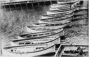 The loss of SS Titanic, 14 April 1912: The lifeboats. All that was left of the greatest ship in the world - the lifeboats that carried most of the 705 survivors.  Operated by the White Star Line, SS Titanic struck an iceberg in thick fog off Newfoundland.