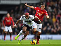 Football - 2018 / 2019 Premier League - Fulham vs. Manchester United<br /> <br /> Fulham's Ryan Babel holds off the challenge from Manchester United's Ander Herrera, at Craven Cottage.<br /> <br /> COLORSPORT/ASHLEY WESTERN