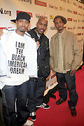 """Terrence J, T.I., and DJ Toomp and Russell Simmons  at The Hip Hop Research and Education Fund(HREF), PowerPAC and the HipHop Summit Action Network (HSAN) present the national """"HipHop Team Vote: Turn Up the Vote"""" campaign event held at Temple University's Liacouras Center Arena on April 20, 2008 ..The HipHop Team Voe: Turn up the Vote brings together hiphop stars and community activists to send a strong, clear message to 18-35 year olds about the importance of voting in the Pennsylvania primary and national presidential election."""