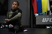 LAS VEGAS, NV - JULY 9:  Julianna Pena warms up in the locker room before UFC 200 at T-Mobile Arena on July 9, 2016 in Las Vegas, Nevada. (Photo by Cooper Neill/Zuffa LLC/Zuffa LLC via Getty Images) *** Local Caption *** Julianna Pena