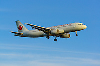 Air Canada A320 landing into the sunset at Vancouver International (CYVR)