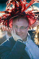 Grand National Meeting - Ladies' Day<br /> e.g. of caption:<br /> National Hunt Horse Racing - 2017 Randox Grand National Festival - Friday, Day Two [Ladies' Day]<br /> <br />   <br /> male racegoers wearing ladies hat in the 7th race Weatherbys Private Bank Standard Open NH Flat Race (Grade 2) (Class 1)2m 209y, Good<br /> 19 Runners.at Aintree Racecourse.<br /> <br /> COLORSPORT/WINSTON BYNORTH