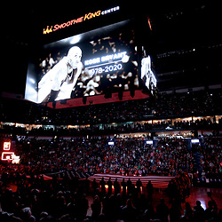 Jan 26, 2020; New Orleans, Louisiana, USA;  The New Orleans Pelicans pay tribute to former Los Angeles Lakers star Kobe Bryant whom died in a helicopter crash Sunday morning prior to tip off against the Boston Celtics at the Smoothie King Center. Mandatory Credit: Derick E. Hingle-USA TODAY Sports